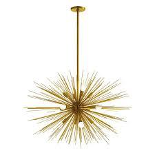 Sputnik Chandelier Knock Off Arteriors Home Zanadoo Gold 12 Light Sputnik Chandelier U0026 Reviews