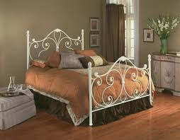 White Metal Bed Frame Queen Vintage Style Of Wrought Iron Queen Bed Frame Modern Wall