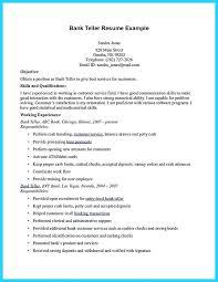 sample resume for teller cover letter bank teller sample resume