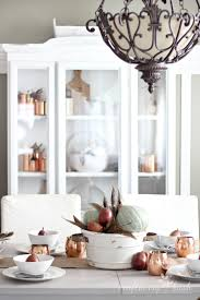 simple elegant thanksgiving dining room decor from craftberry
