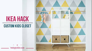 ikea hack diy custom closet youtube