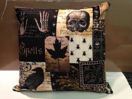 gothic halloween throw accent pillows set of 2 pillows