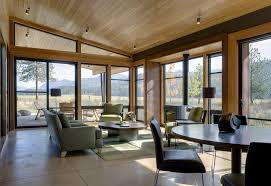 wood trim on ceiling living room modern with wood ceiling dining
