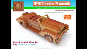 1948 chrysler plymouth wood plan set youtube