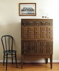 Library Catalog Cabinet File Cabinets Stunning Library File Cabinet Card Catalog