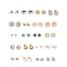 jojo s earrings gold tone nautical motif stud earrings 1 s us