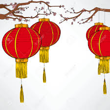 New Year Decoration Elements by Traditional Chinese Red Lantern Decoration Elements For Lunar