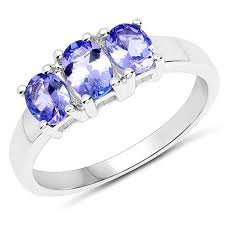 tanzanite stone rings images Colleen lopez 1 05ctw oval tanzanite sterling silver 3 stone ring jpg