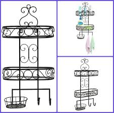 Bathroom Makeup Storage by Details About Wall Mount Black Metal Bathroom Makeup Storage Towel