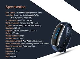 blood health bracelet images Lynwo m4 health smart bracelet blue jpg