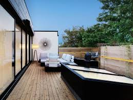decorations luxury patio rooftop design ideas with brown