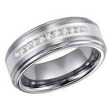 silver band 23 ct t w tungsten silver band h i i1 sam s club