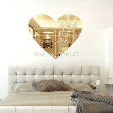 Large Home Decor Large Unique Wall Mirror Heart Shaped Puzzle Pieces Mural Wall