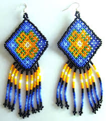 Native American Beaded Earrings Huichol 143 Best Huichol Earring Images On Pinterest Bead Earrings