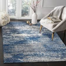 Modern Rugs Arjan Navy Power Loomed Modern Rug Temple Webster