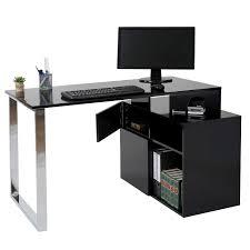 Schreibtisch Hochglanz Grau Büro
