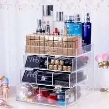 Storage Boxes Bathroom Acrylic Makeup Organizer Dresser Top Tray Stacking Drawers