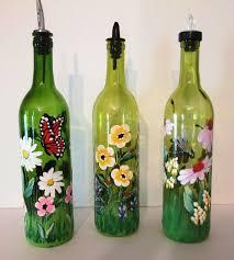 Wine Bottle Home Decor Best 25 Painted Glass Bottles Ideas On Pinterest Glass Bottle