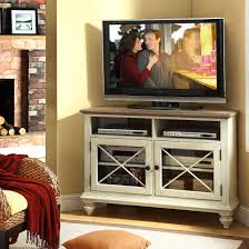 T V Stands With Cabinet Doors Furniture White Wood Corner Console Table Tv Stand With Glass