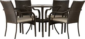 Outdoor Wicker Dining Set Darby Home Co Darden 5 Piece Dining Set With Cushions U0026 Reviews