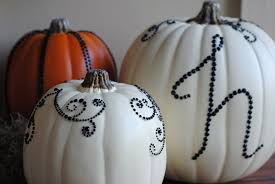 diy halloween decor sequined pumpkins making lemonade