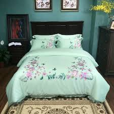 embroidery design 100 cotton fabric bed cover bed sheet pillow