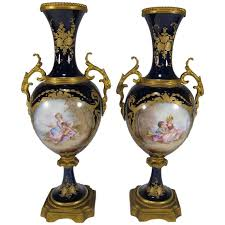 urns for sale 19th century antique sèvres pair of porcelain and bronze