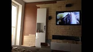 Steinwand Wohnzimmer Youtube Funvit Com Arbeitsplatte Grau