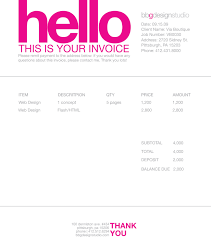 cool invoice template invoice template ideas