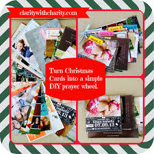 don u0027t throw away your christmas cards u2013 easy diy prayer wheel to