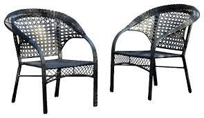 Black Patio Chairs Black Wicker Chair Ecofloat Info