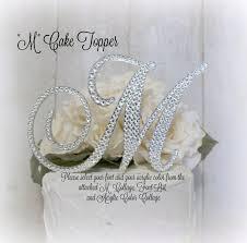 rhinestone monogram cake topper 5 wedding cake topper letter m initial cake toppers monogram