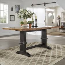Counter Height Table Legs Eleanor Solid Wood Counter Height Trestle Base Dining Table From