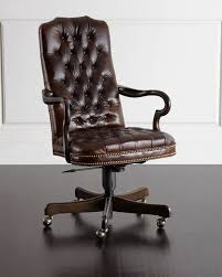Leather Office Chair Massoud Blevens Tufted Leather Office Chair Neiman