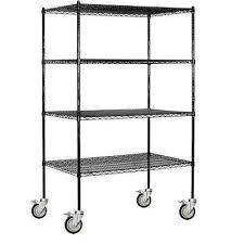 Industrial Wire Shelving by 24 In Black Garage Shelves U0026 Racks Garage Storage The Home