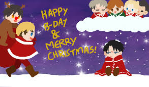 happy birthday and merry by huhoop on deviantart