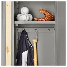 ivar 2 sections shelves cabinets pine grey 134x30x179 cm ikea
