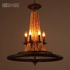 Cheap Rustic Chandeliers by Online Get Cheap Wooden Chandelier Beads Aliexpress Com Alibaba