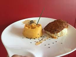 cours de cuisine pau dos de cabillaud crumble chorizo et sa polenta cours de cuisine pau