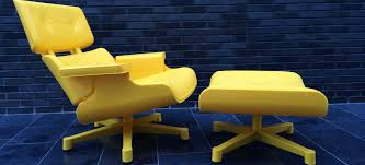 Yellow Chair Mal 1956 Lounge Chair Plastic Yellow Outdoor And Indoor