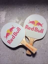 custom table tennis racket red bull and high cascade launch spring ping