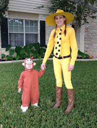 one year old boy halloween costumes curious george and the man woman in the yellow hat halloween