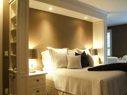 headboard with built in bedside tables headboard idea with lights and crown molding bed area defined w