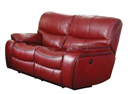 homelegance pecos reclining sectional set red leather gel match