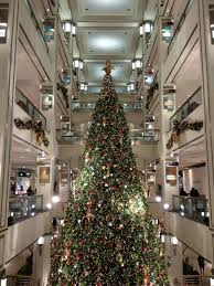 giant christmas tree in bloomingdales chicago christmas