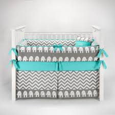 Monkey Crib Bedding Sets Amazon Com Elephant Chevron Zig Zag Gray U0026 Turquoise Baby