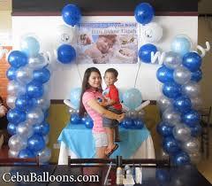 baptism decorations ideas for boy christening balloon decoration at merillas resto cebu balloons