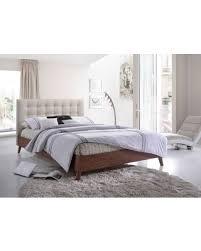 Modern Platform Bed Queen Sweet Deal On Baxton Studio Alinia Mid Century Upholstered Walnut