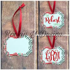 personalized ornaments monogrammed ornaments free