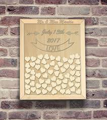 alternative wedding guest book personalized wedding guest book frame custom alternative drop top